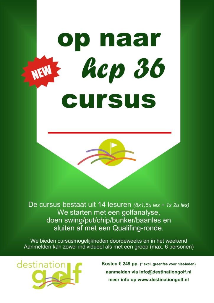 Golfschool flyer hcp 54 naar 36